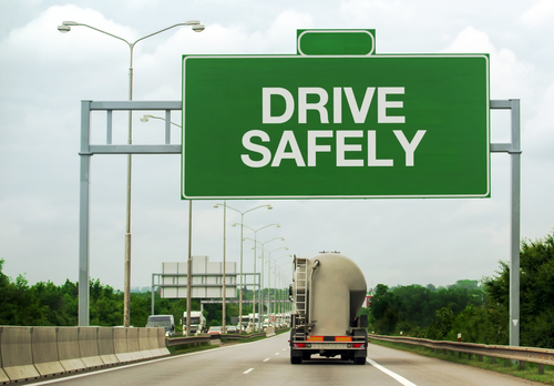 driving safely sign