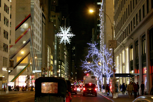 trucking in NYC during the holidays