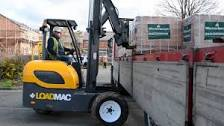 load mac truck mounted forklift being used by iron horse transport